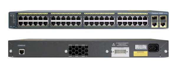 Cisco Catalyst 2960-48TC-L Switch Front and Back