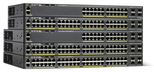 Cisco Catalyst 2960X Switches with Four SFP Uplink Interfaces