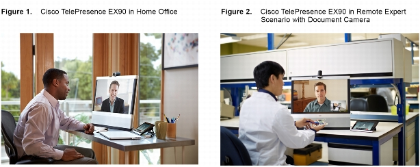 Cisco TelePresence™ EX Series transforms the workplace by combining work, communications, and collaboration-all on the desktop